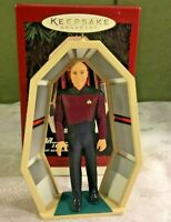 Hallmark Keepsake Star Trek Captain Jean-Luc Picard  Keepsake Ornament 1995 New