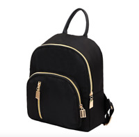 New Fashion Women Small Mini Backpack Travel Nylon Handbag Shoulder Bag Black