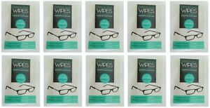 OPTICAL LENS CLEANING WIPES Glasses Smartphone Mobile For All Screens 10pcs