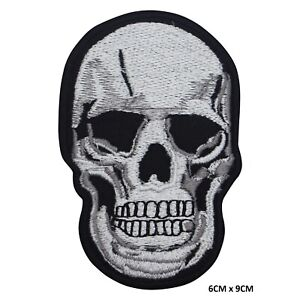 Skull Bikers Sew on Iron on Embroidered Patch Badge For Clothes etc