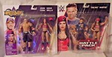 WWE The Miz Maryse John Cena Nikki Bella Wrestlemania Battle Packs NIP Figures