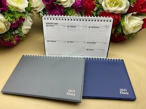 2021 PVC Spiral Hard Cover Desk Diary Week To View School Business Office WTV