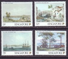 Singapore 1990 SC 559-562 MNH Set Early Singapore Lithograph