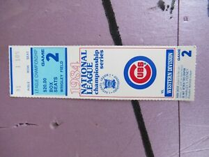1984 NLCS GAME 2 San Diego Padres v Chicago Cubs Baseball Ticket VG