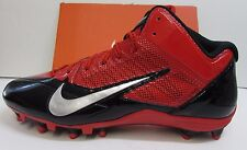 Nike Alpha Pro Football Cleats Red Black Size 13.5 New Mens Shoes