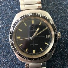 CYMA DIVINGSTAR RARE ACRYLIC BEZEL VINTAGE AUTO DIVER WATCH  with W.W. Winship