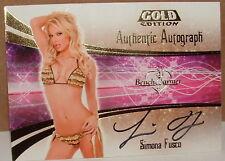 BENCHWARMER GOLD - SIMONA FUSCO  -  AUTOGRAPH CARD