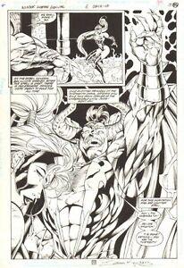 Wonder Woman Ann #6 p.50 Artemis with Lord Hades Splash - 1997 art by Ed Benes