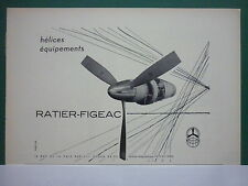 1963 PUB RATIER FIGEAC HELICE HELICIER PROPELLER AVION AIRCRAFT FRENCH AD