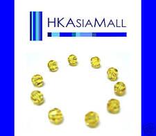 10 Swarovski Crystal Beads Round 5000 LIGHT TOPAZ 6mm
