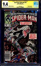 Spectacular Spider-man #90 CGC SS 9.4 signed Al Milgrom 1st BLACK COSTUME TITLE