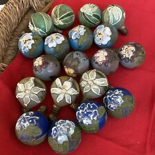 Vintage Hand Painted Light Bulbs Round Florals (19)