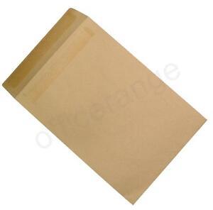 250 x Heavyweight Manilla 115gsm Self Seal C4 A4 Plain Brown Quality Envelopes