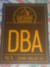 Beer pump badge clip NEW - CHESHIRE BREWHOUSE brewery DBA cask ale UNUSED