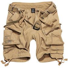 Brandit Savage Vintage Cargo Combat Mens Summer Shorts Army Camping Hiking Beige