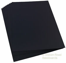 "Matt Black Plasticard 0.5mm 15 Sheets 20Thou (0.020"") Styrene Plastic Size A4+"