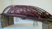 NEW Modelux OO Large Arch Suspension Model Railway Bridge Red Sealed Flat Packed