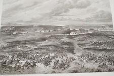 NAPOLEON BATAILLE DE WAGRAM 2EME JOURNEE GRAVURE 1838 VERSAILLES R1166 IN FOLIO