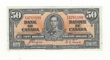 **1937**Canadian $50 Dollar Note BC-26c,  Coy/Tow SN# B/H 4781188
