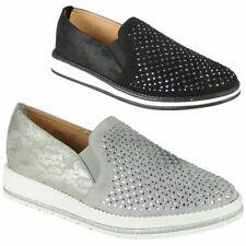 Womens Comfort Office Bling Wedge Heel Ladies Slip On Light Work Comfy Shoes Siz