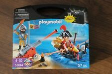 PLAYMOBIL 5894 PIRATES IN CARRY CASE 37 pieces (BRAND NEW)