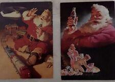 2 CARTES PUBLICITAIRES - Père Noel - Coca Cola