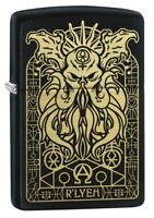Zippo Monster Design Black Matte Windproof Pocket Lighter, 29965