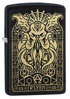 Zippo Monster Design Black Matte Windproof Pocket Lighter, 29965