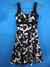 White House Black Market Cotton Dress Strapless Floral Party Wedding Size 0