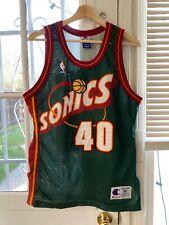 Vintage Champion Seattle Sonics Shawn Kemp #40 AUTHENTIC Stitched Jersey Size 40