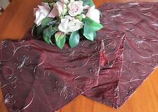 SHOT SILK LOOK EMBROIDERED TABLE RUNNER FROM GERMANY