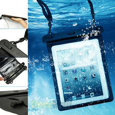 Waterproof Underwater Pouch Dry Bag Case Cover +Audio Cable For iPad 10'' Tablet