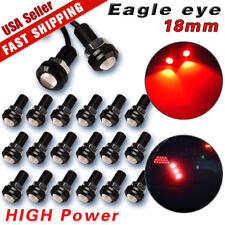 20X Motor Car Eagle Eye Light DRL 9W LED Red 18MM Bolt On Screw Backup Light Fog