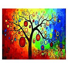 Diy Oil Painting,Paint by Number Kit for Adult 16 by 20-Inch (Tree) D8P3