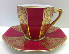 "Royal Doulton ""Royal Gold"" Pattern Coffee Cup & Saucer."