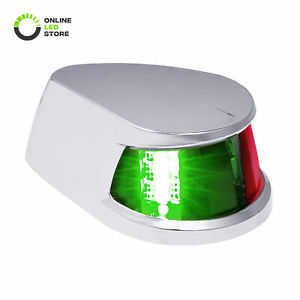 Red Green LED Marine Navigation Bow Light for Fishing Boats USCG ABYC A-16 2NM