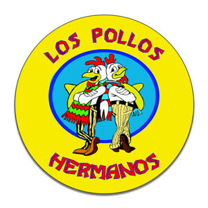 Los Pollos Hermanos Gus Fring Fried Chicken Breaking Round MDF Wood Sign