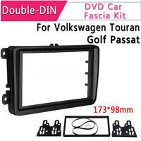 Panel Stereo Surround Adaptor Radio Trim Double Din For VW Touran Golf Passat B6