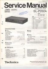 TECHNICS-sl-p202a - Service Manual Istruzioni per CD Player-b6040