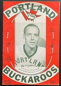 1967-68 Portland Buckaroos vs Vancouver Canucks Hockey Program-Arlo Goodwin #