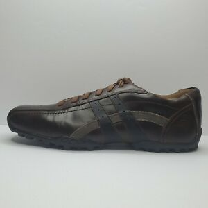 Skechers Talus Burk Leather Oxford Shoes Men 12 EUC Brown City Walk Relaxed Step