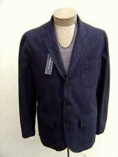 Polo Ralph Lauren Rugby Mens 44R 44 Wool Blazer Sport Coat Jacket Navy Pinstripe