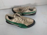 PUMA Metallic Gold/Green Running Track Shoes Mens US size 9