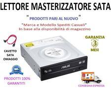 """Lettore Masterizzatore CD DVD -RW SATA Interno 5,25"""" Colore Nero + Cavo SATA"""