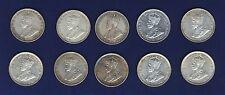 AUSTRALIA 1 SHILLING SILVER COINS:1916, 1917, 1918, 1920, 1925, 1926, 1927, 1928