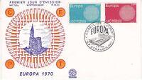 Enveloppe 1er jour FDC n°720A - 1970 : Europa Conseil de l'Europe Strasbourg