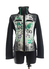 MARC CAIN SPORTS Womens Black Zip front Cardigan Size N4