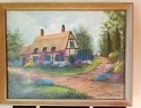 Vintage Landscape Original Oil Painting by DORY GRAY on Canvas and Framed