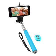 B-Ware NINETEC Picturesmart Selfie Stick Bluetooth Auslöser für IOS Android Blue