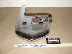 OEM 66 Cadillac Deville RIGHT PASSENGER SIDE UPPER FRONT BUMPER END